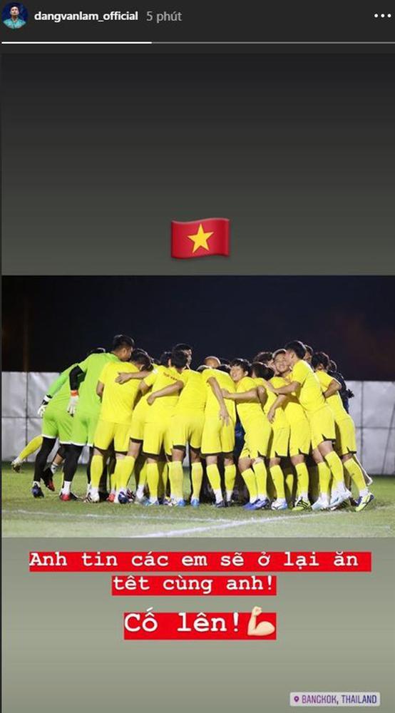 Đặng Văn Lâm cổ vũ U23 Việt Nam trước trận cầu sinh tử với U23 CHDCND Triều Tiên: Anh tin các em sẽ ở lại ăn Tết cùng anh-1