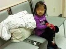 Bé gái 5 tuổi ngồi ngồi im lặng bên hàng ghế trong bệnh viện, y tá đến hỏi thì nhận được câu trả lời đầy xót xa
