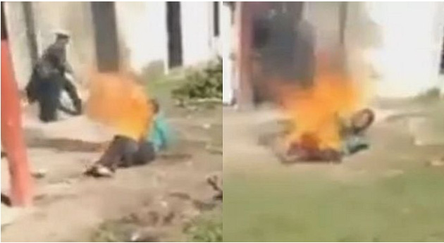 Cưỡng hiếp rồi giết chết bé gái 6 tuổi, nghi phạm độc ác bị dân làng tức giận đánh đập và thiêu sống-2