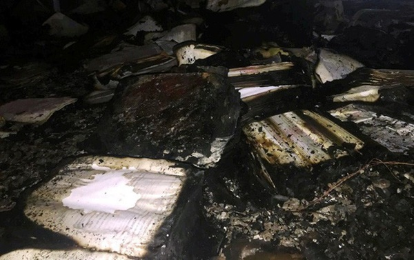 Hiện trường vụ cháy tòa nhà dầu khí Thanh Hóa khiến 2 người chết, 13 người bị thương-6