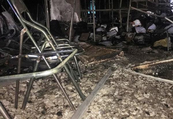 Hiện trường vụ cháy tòa nhà dầu khí Thanh Hóa khiến 2 người chết, 13 người bị thương-7