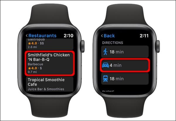 Cách xem bản đồ trên Apple Watch-7