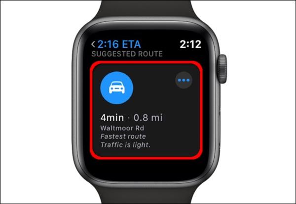 Cách xem bản đồ trên Apple Watch-8