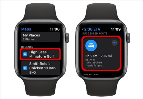 Cách xem bản đồ trên Apple Watch-10