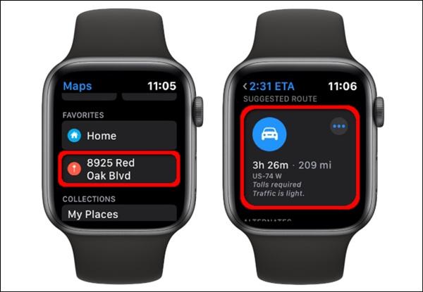 Cách xem bản đồ trên Apple Watch-9