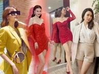 Đụng hàng chiếc váy đỏ Hồng Diễm từng diện, Ninh Dương Lan Ngọc liệu có trên phân?