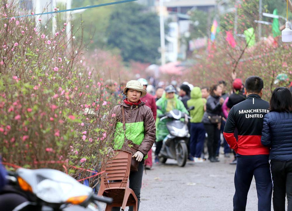 Tuần cuối trước Tết chợ hoa Quảng An đông nghẹt thở, người người đến sắm đào quất-6