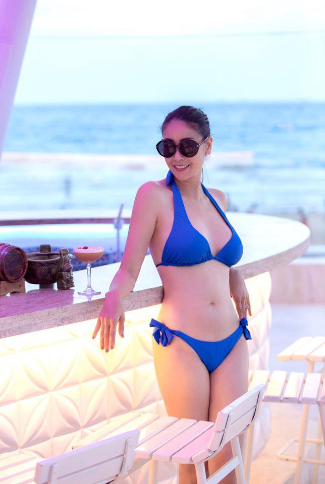 Thân hình nóng bỏng khó tin ở tuổi 43 của hoa hậu Hà Kiều Anh-1