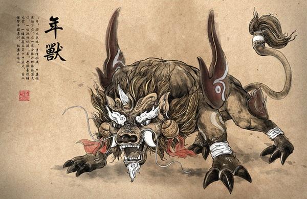 Đằng sau câu đối đỏ, pháo hoa ngày Tết và tiếng cười rộn rã là câu chuyện huyền thoại về con Niên - quái vật hung ác đêm Giao Thừa-2