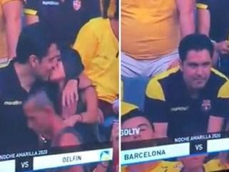 Góc đen đủi: Bị camera quay được cảnh hôn gái lạ trên khán đài, fan bóng đá bị vợ đá tức khắc vì tội