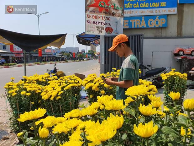Chồng đột quỵ rồi mất trong lúc bán hoa Tết ở Sài Gòn, vợ cùng các con vội về đưa tang với hơn 2 tấn dưa còn nằm lại vỉa hè-6