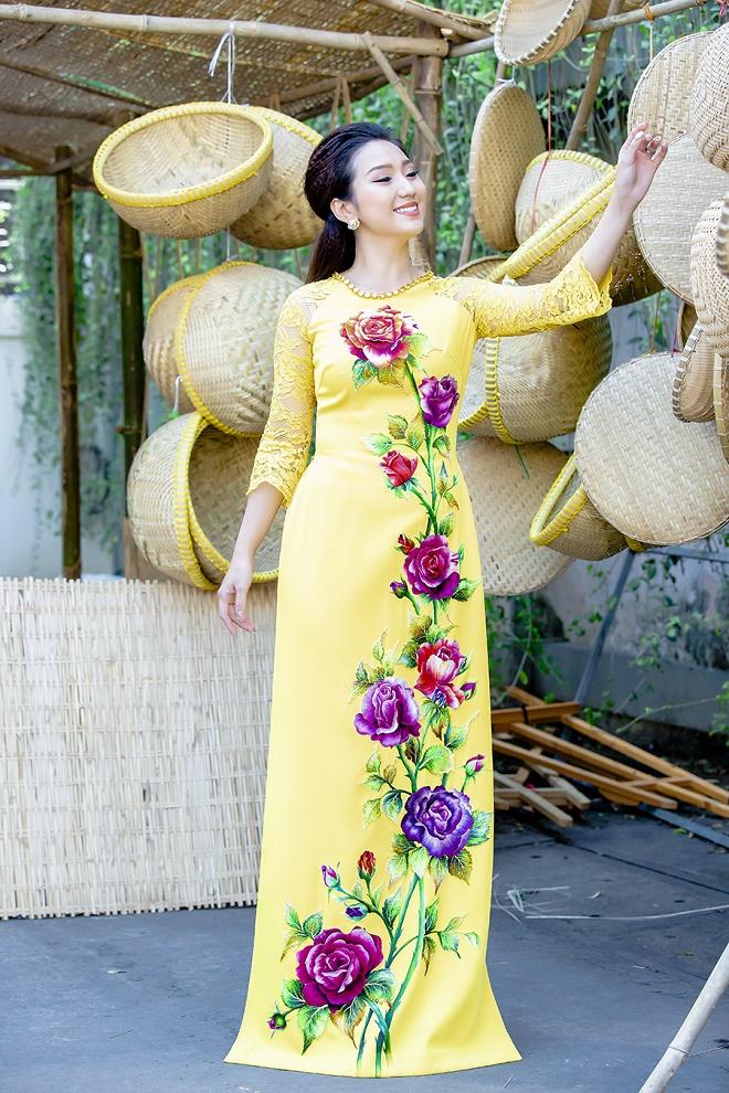 Cao Mỹ Kim xinh đẹp và quyến rũ trong tà áo dài-8