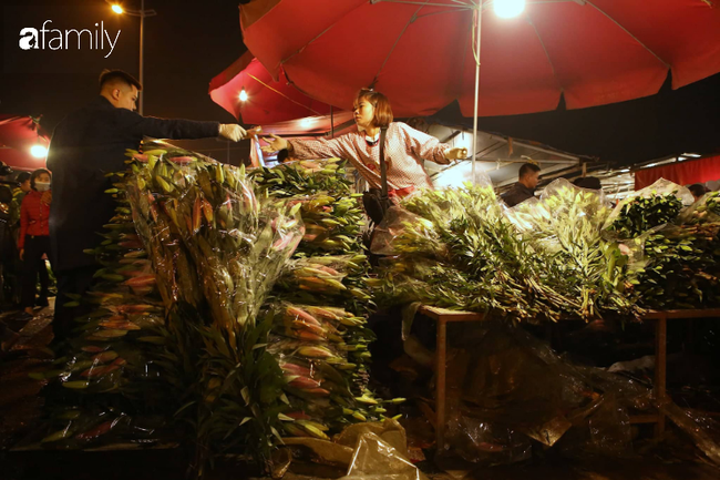 Rạng sáng 28 Tết: Chợ hoa Quảng An đông nghẹt thở, người dân cùng thương lái tất bật thâu đêm-11