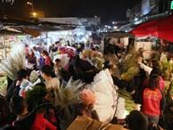 Rạng sáng 28 Tết: Chợ hoa Quảng An đông 'nghẹt thở', người dân cùng thương lái tất bật thâu đêm