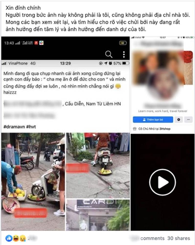 Cô gái hoang mang, điêu đứng khi bị dân mạng chửi bới dữ dội vì hiểu nhầm là người phụ nữ chạy xe máy cán nát mẹt hoa quả của người bán hàng rong-2