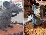 Linh vật chú chuột Canh Tý khiến nhiều người rùng mình sợ hãi ở Củ Chi đã chính thức được... make-up lại-6