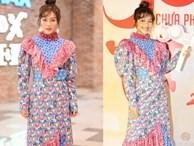 Nữ chính 'Hậu duệ mặt trời' phiên bản Việt diện đồ lòe loẹt quá hóa sến tại sự kiện