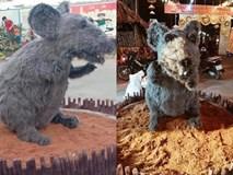 Linh vật chú chuột Canh Tý khiến nhiều người rùng mình sợ hãi ở Củ Chi đã chính thức được... make-up lại