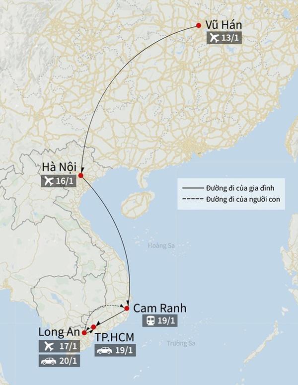 2 bố con người Trung Quốc nhiễm virus corona đã đi qua bao nhiêu tỉnh thành ở Việt Nam?-3