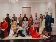 Đội hình diện áo dài của hội bạn Hà Tăng đang long lanh hoành tráng thì bị lựa chọn lạc quẻ của Louis Nguyễn 'phá bĩnh' chút nhẹ