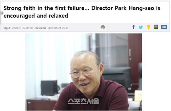 Báo Hàn Quốc: Câu chuyện cổ tích đang tạm dừng, nhưng niềm tin vào HLV Park Hang-seo không hề rạn nứt-1