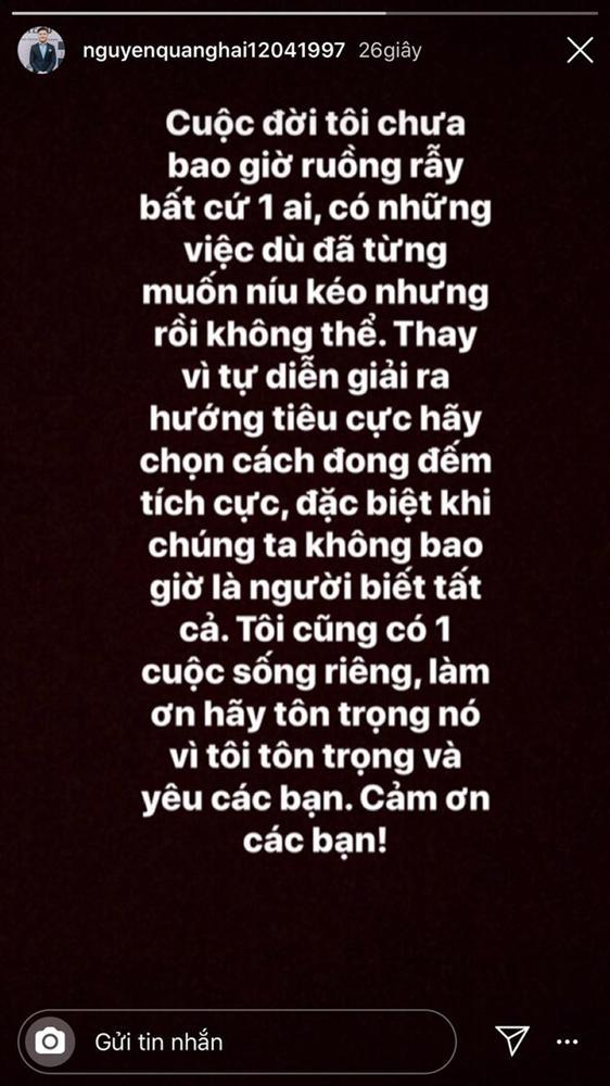 Quang Hải lại tương tác với Nhật Lê trên Instagram: Đã quay lại hay vẫn là bạn bè sau chia tay?-2