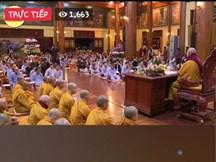 Đã gỡ hình ảnh chương trình giải dịch cúm virus corona của trụ trì chùa Ba Vàng