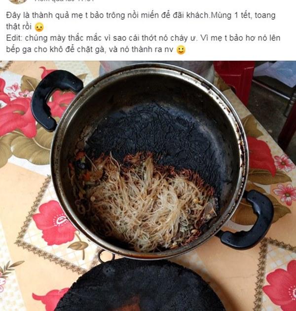 Năm mới, gái đảm trổ tài nấu ăn đãi khách khiến ai cũng hết hồn, bình luận của cư dân mạng mới thật là toang-1