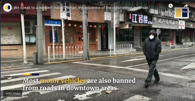 Rùng mình đoạn clip phóng sự cho thấy vài ngày sau lệnh phong tỏa, ổ dịch Vũ Hán đã hóa thành phố ma lạnh lẽo do vắng bóng người-6