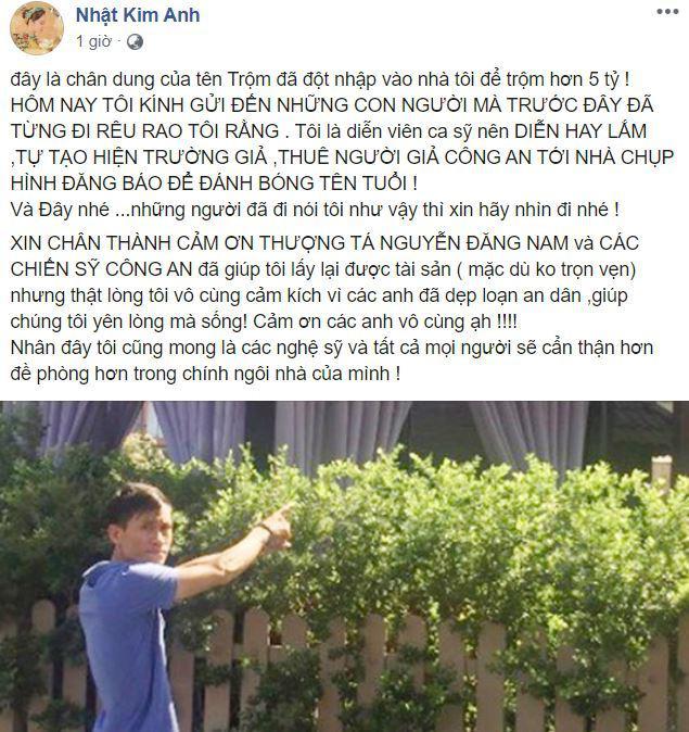 Nhật Kim Anh chia sẻ thông tin bất ngờ về tên trộm đột nhập nhà mình lấy đi 5 tỷ đồng-1