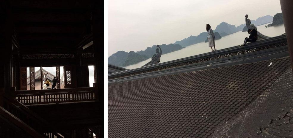 Nam thanh nữ tú trèo lên mái chùa lớn nhất Việt Nam để chụp ảnh: Những nụ cười xấu xí-2