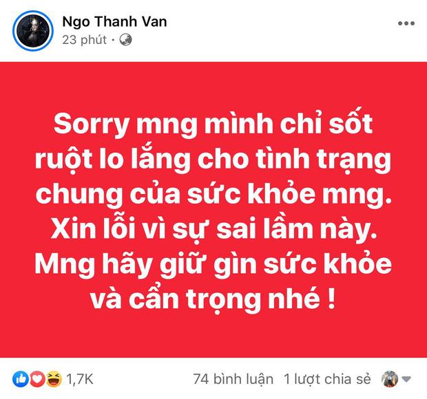 Sau Ngô Thanh Vân, NSND Hoàng Dũng cũng chính thức lên tiếng xin lỗi khi đưa tin sai về dịch cúm Corona-5