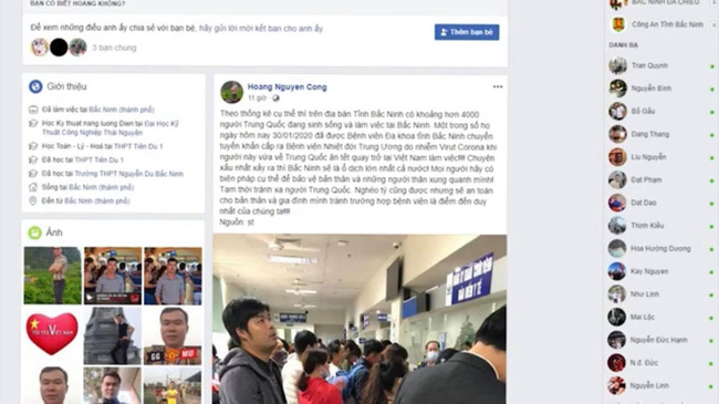 Bắc Ninh: Phạt 12,5 triệu đồng cô gái bán hàng online đăng thông tin sai sự thật người nhiễm virus Corona để câu like-1