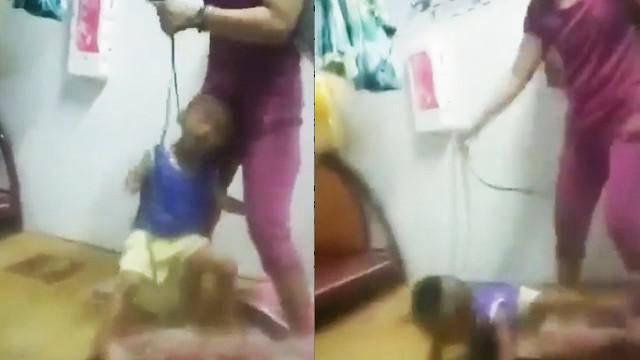 Mẹ dùng sợi dây thừng thắt cổ, đánh đập con dã man vì cảm thấy... chán đời?-4