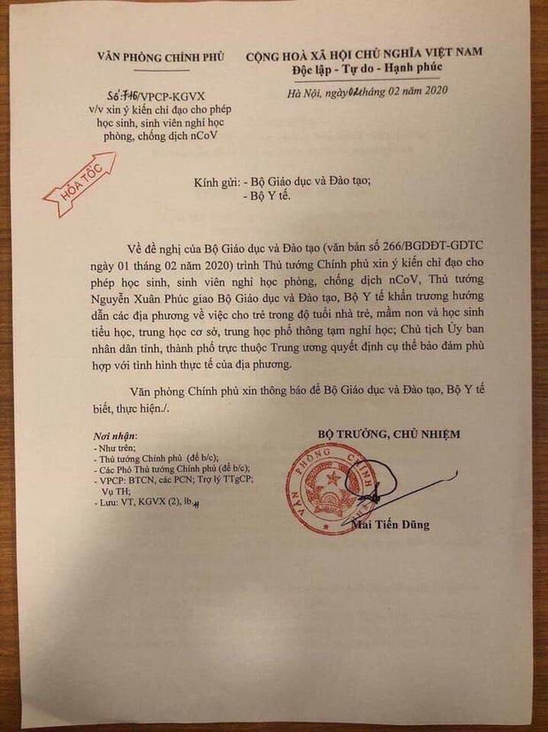 Thủ tướng đồng ý cho học sinh toàn quốc tạm nghỉ học phòng dịch cúm do virus Corona-1