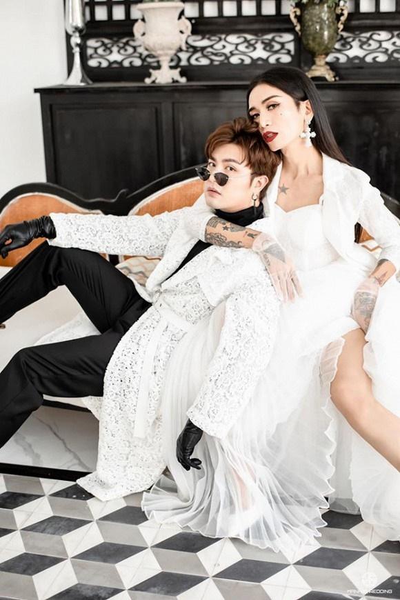 Kỷ niệm 4 năm 6 tháng yêu, BB Trần cùng bạn trai tung ảnh cô dâu - chú rể đẹp lộng lẫy-6