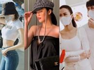 Street style sao Việt: Mẹ bỉm sữa Lan Khuê lấp ló vòng 1, Ngọc Trinh phòng Corona đến tận răng nhưng vẫn chưa là gì so với vợ chồng Đông Nhi