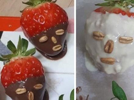 Dâu tây đắp mask chocolate phiên bản sai trái mùa Valentine: Shop nào bán cái này đề nghị có tâm chút, không thì lứa đôi chia lìa!