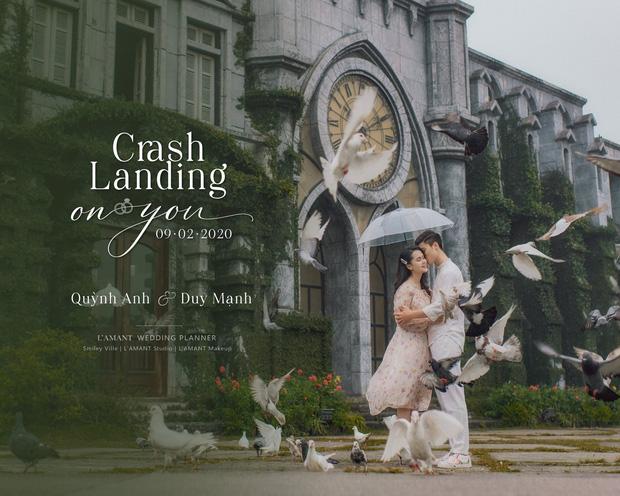 Đám cưới Duy Mạnh - Quỳnh Anh được trang hoàng bởi 500.000 viên pha lê, ảnh cưới theo bộ phim đình đám Hàn Quốc Hạ cánh nơi anh-3