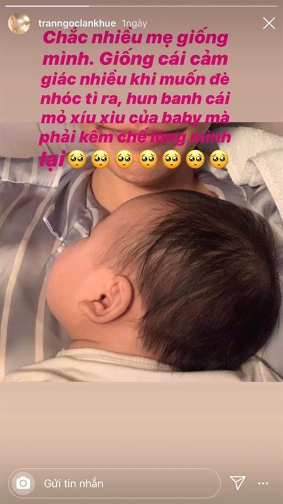 Sau gần 3 tháng sinh con, Lan Khuê tiết lộ sở thích đặc biệt với quý tử-1