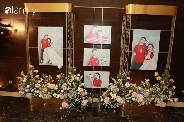 Chiếc váy trăm triệu của Quỳnh Anh được đặt giữa lễ đường, chiêm ngưỡng không gian sảnh cưới đẹp như cổ tích trước giờ G-6