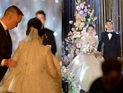 Duy Mạnh - Quỳnh Anh bật khóc trong đám cưới, bố cô dâu xúc động nhắn nhủ: