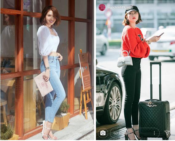 Ngọc Trinh dáng chuẩn nên mặc quần jeans đẹp mê là đương nhiên, mỗi tội lại có đôi lần mix đồ hơi lỗi-1