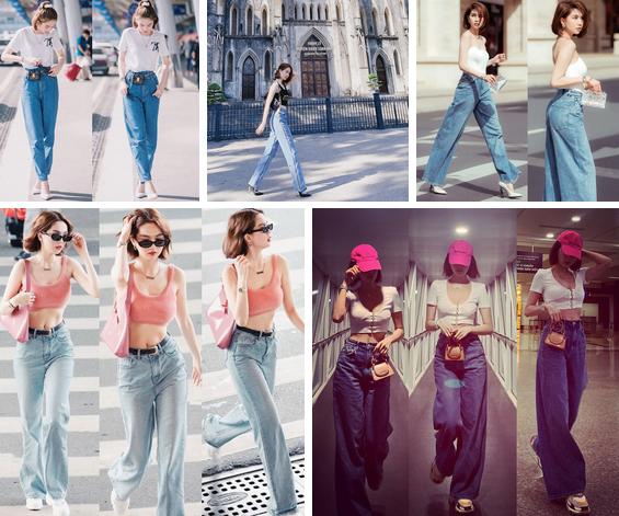 Ngọc Trinh dáng chuẩn nên mặc quần jeans đẹp mê là đương nhiên, mỗi tội lại có đôi lần mix đồ hơi lỗi-10