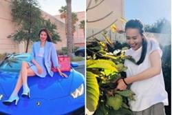 Nhà 2 nàng hậu bỏ showbiz sang Mỹ: Phạm Hương ở biệt thự vẫn thua xa tình cũ Bằng Kiều