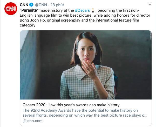 """Ký sinh trùng đoạt 4 giải Oscar: Cả thế giới rúng động trước chiến thắng lịch sử 92 năm có 1"""" của điện ảnh châu Á-6"""