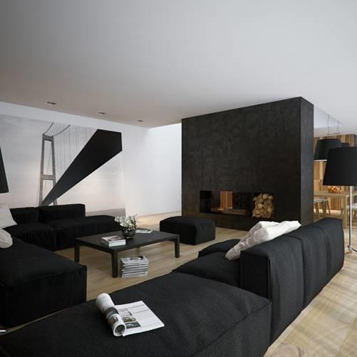 Căn hộ nội thất màu đen vô cùng huyền bí và sang trọng-3