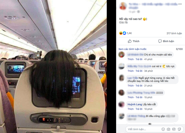 Nhức mắt với hành động xấu xí của nữ hành khách trên máy bay, dân mạng mách cách giải quyết cực gắt-2