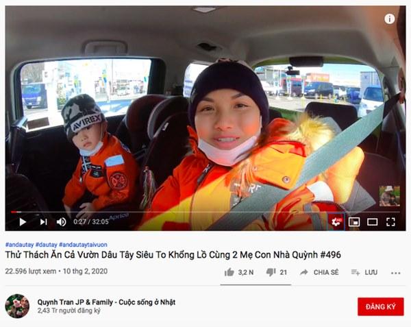 Đánh liều cho bé Sa xuất hiện lại trong vlog, Quỳnh Trần JP ngay lập tức phải đổi tên clip vì bị Youtube sờ gáy lần nữa?-2