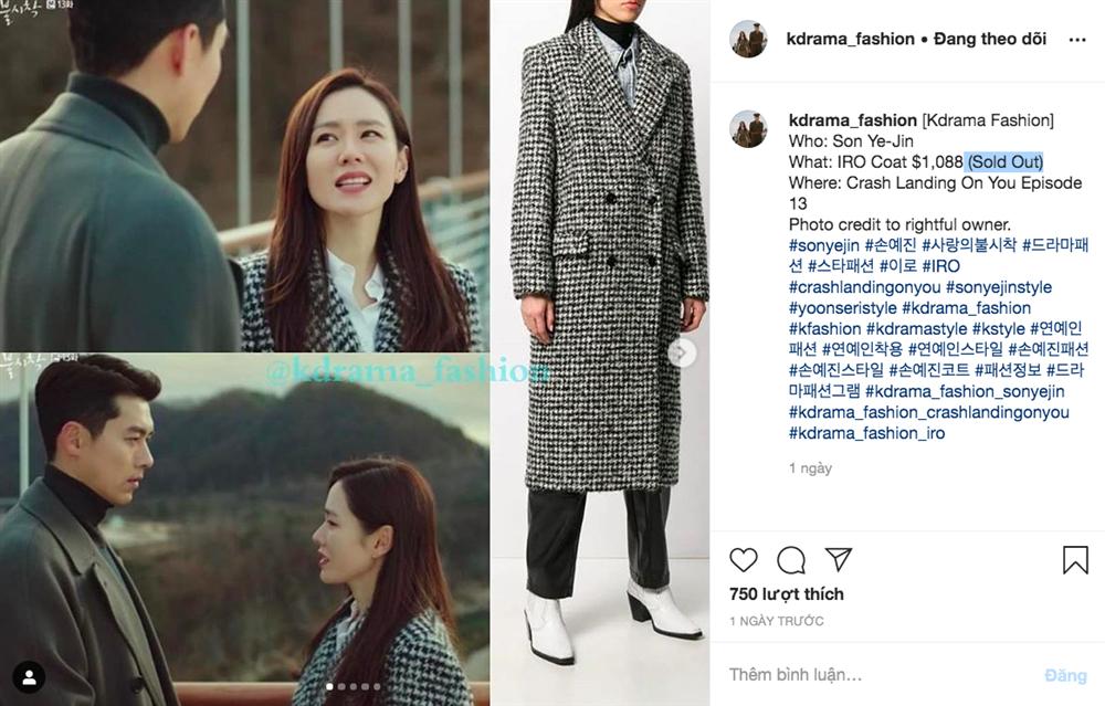 Ngay khi tập 13 Hạ cánh nơi anh được phát sóng, chiếc áo khoác 25 triệu mà Son Ye Jin mặc đã lập tức cháy hàng-3